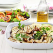 Grilled vegetables and salad with tamarillos - Stok fotoğraf