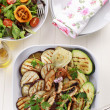 Grilled vegetables and salad with tamarillos - Stock Photo