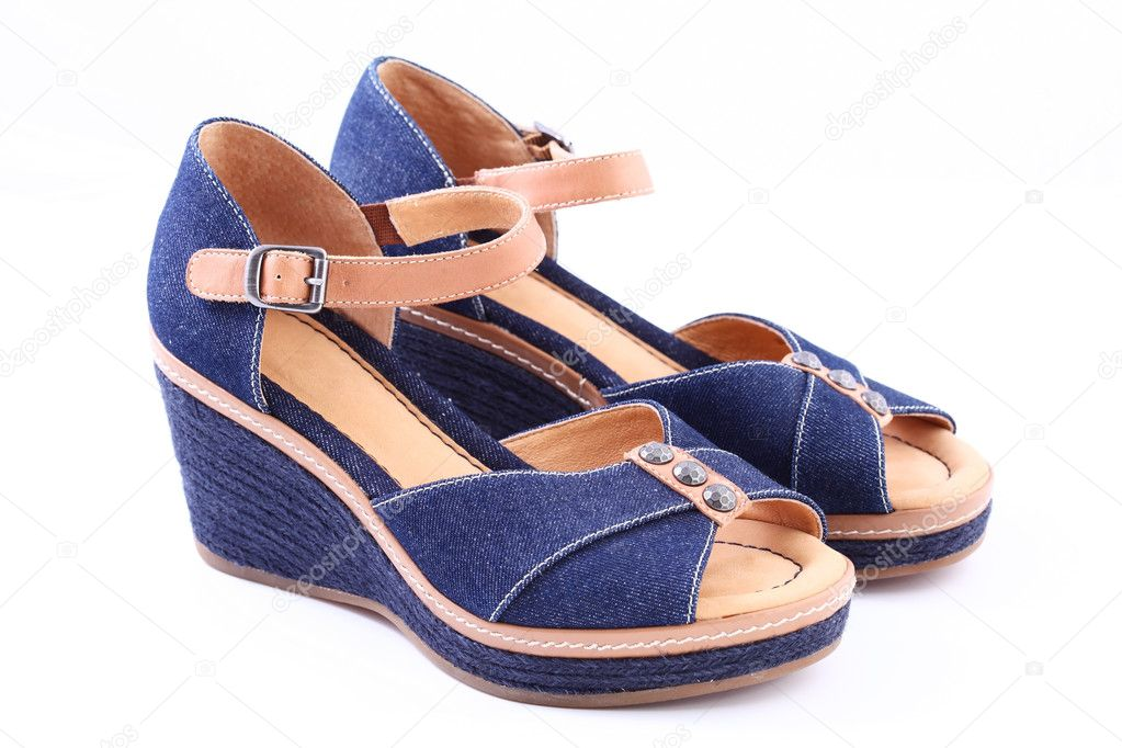 Blue retro shoes on white background — Stock Photo #11578301