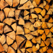 Pile of wood logs ready for winter — Stockfoto