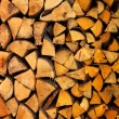 Stock Photo: Pile of wood logs ready for winter