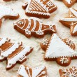 Delicious gingerbread cookies for Christmas — Stock Photo