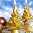 Christmas candle — Stock Photo #12111533