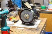 Workshop with sharpener — Stock Photo