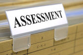 File folder marked with assessment — Stock Photo