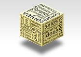 Business word cube — Stockfoto