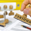 Certified — Stock Photo