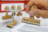 Credit accepted — Stock Photo
