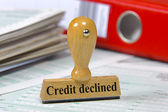 Credit declined — Stock Photo