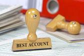 Best account — Stock Photo