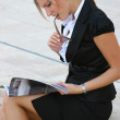 Business woman in the city - Stock Photo