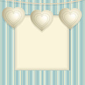 Hanging heart background — Stock Vector
