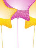 Star shaped balloons2 — Stock Vector