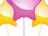 Star shaped balloons — Stock Vector