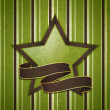 Vintage star and banner background - Stockvectorbeeld