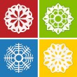 Royalty-Free Stock Vector Image: Paper snowflake set