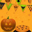 Stock Vector: Halloween party background2