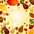Autumn leaf and acorn background — Stock Vector