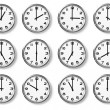 Set of wall clocks — Stock Photo
