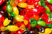 Colored candy wrapped in foil — Stock Photo