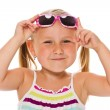 Little girl in sunglasses — Stockfoto
