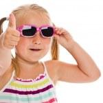 malá holčička v sluneční brýle — Stock fotografie