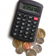 Calculator and american currency — Stock Photo