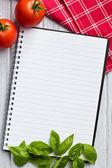 空白食谱书 — 图库照片