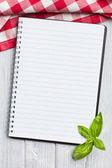 Livro de receitas em branco — Foto Stock