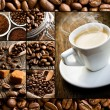 Collage of different coffee motifs - Stock Photo