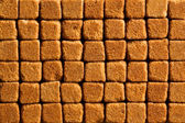 Muster von Brown Sugar cubes — Stockfoto