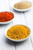 Diversas especias coloreadas — Foto de Stock