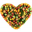 Heart of fruits. - Stock Photo