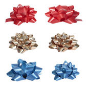 Set of beautiful colourful bows. — Stock Photo