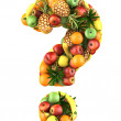 Question mark made from 3d fruits. — Stock Photo #11441413
