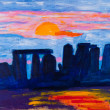 Stock Photo: Stonehenge in UK painting by Kay Gale