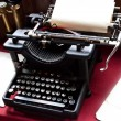 Постер, плакат: Old typewriter and paper on writers desk