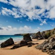 Bedruthan Steps beach in Cornwall UK — Stock Photo