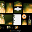 Stationery design set - Stock Vector