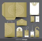 Briefpapier ontwerpset in vector-formaat — Stockvector