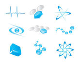 Set of vector icon elements — Stock Vector