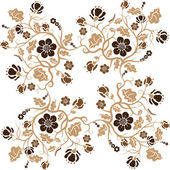 抽象的な花の背景 — ストックベクタ