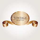 Vintage blommig cover — Stockvektor