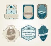 étiquettes vintage rétro — Vecteur
