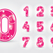 Royalty-Free Stock Vector Image: Colored numbers design