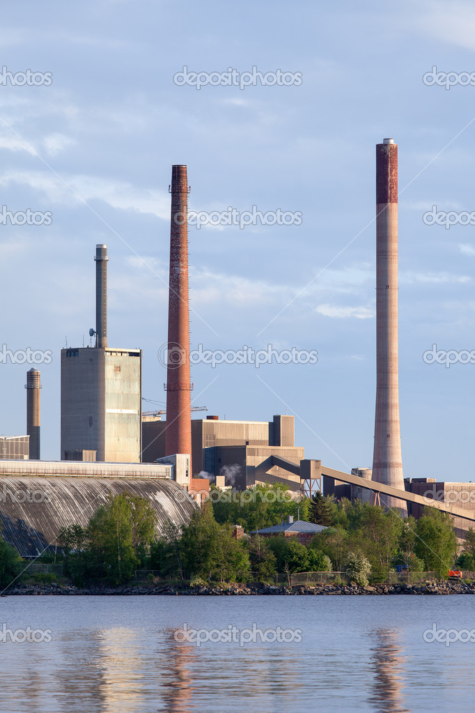 View of the Closing of Factories and Smokestacks  Stock Photo #11133795