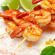 Stock Photo: Fried King Prawns Served in Plate