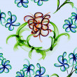 Floral Stylish Wallpaper, Seamless Pattern — Stock Photo #11750013