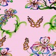Floral Stylish Wallpaper, Seamless Pattern — Stock Photo