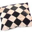 Throw Pillow with a Checkerboard Texture — Stock Photo